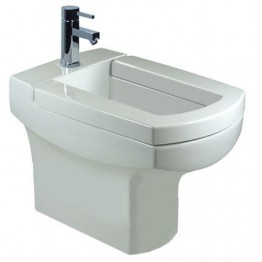 Villeroy & Boch Bellevue back to wall bidet. White Alpin. Ceramic Plus.