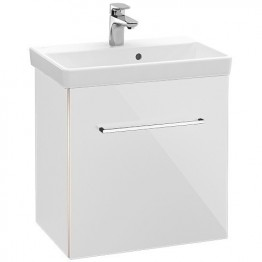 Villeroy & Boch Avento vanity unit with 1 door front crystal white / corpus crystal white + basin