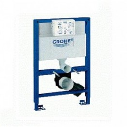 Grohe Rapid 0.82m Dual Flush Concealed Cistern and Frame and Cosmo flush plate