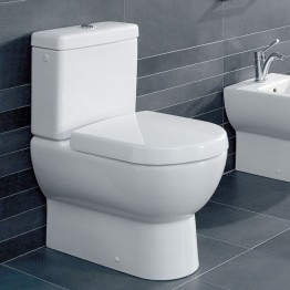 Villeroy & Boch Subway Back to wall close coupled WC pan with cistern and soft seat