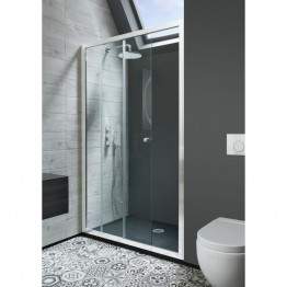 Simpsons 1100mm Edge Single Sliding Shower Door