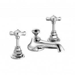 Czech & Speake Edwardian Three-Hole Basin Mixer with Pop-Up Waste