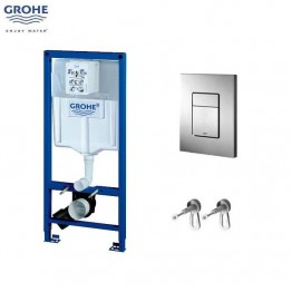 Groge wc frame 3in1 incl Cosmopolitan button 1.13m