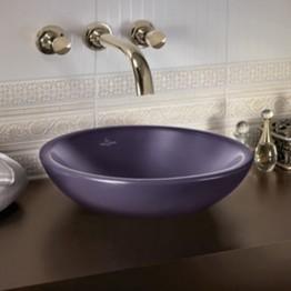 Villeroy & Boch Loop & Friends surface round washbasin bowl cassis ceramic + 430mm
