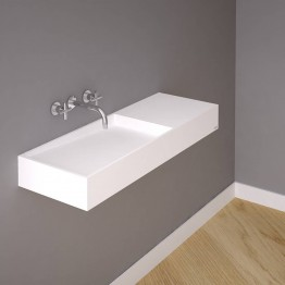 Marike Class 1000 right side  basin with shelf
