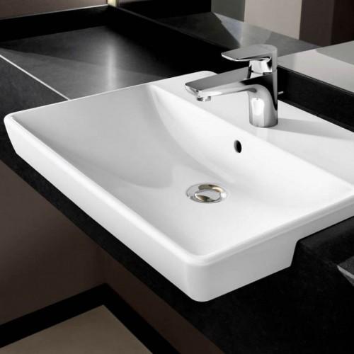 villeroy boch avento semi recessed built in wash basin 550mm. Black Bedroom Furniture Sets. Home Design Ideas