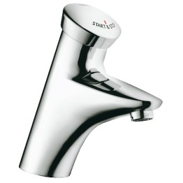 Grohe Eurodisc SE electronic hot basin tap Chrome finish.