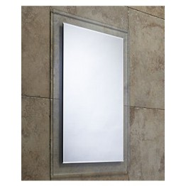 Roper Rhodes Bevelled Level Glass Mirror With Clear Frame