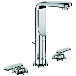 "Grohe Veris Three-hole basin mixer in white 1/2"" M-Size"