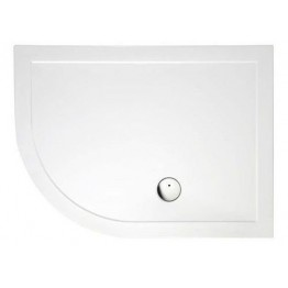 Zamori Rectangle offset quadrant Shower Tray 1000mm x 800mm + waste