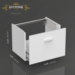 Keuco - Royal Universe - Vanity and basin unit, front pull titan matt / satin glass titan with basin inc