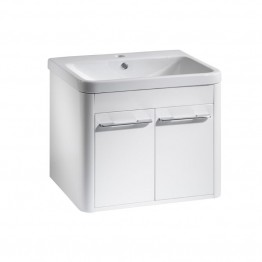 Roper Rhodes Contour Vanity in glossy grey and basin